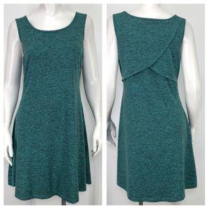 Patagonia M Seabrook Dress Green Gray Heathered